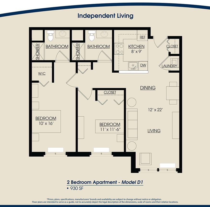 Floor plans the rivers grosse pointe for Apartment model plans